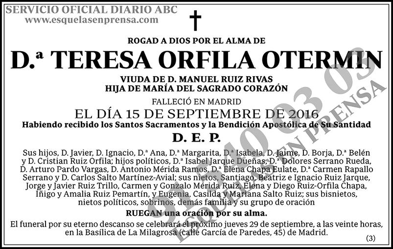 Teresa Orfila Otermin